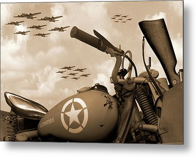 Metal Print featuring the photograph 1942 Indian 841 - B-17 Flying Fortress - H by Mike McGlothlen