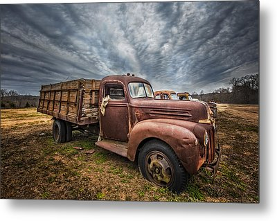 1942 Old Ford Truck Metal Print by Debra and Dave Vanderlaan