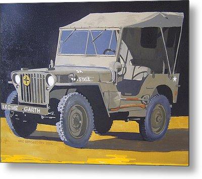 1942 Us Army Willys Jeep Metal Print