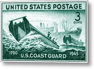 1945 Coast Guard Issue Stamp Metal Print by Historic Image
