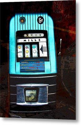 1945 Mills High Top 5 Cent Nickel Slot Machine Metal Print by Karon Melillo DeVega