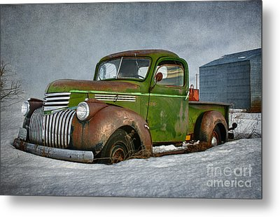 1946 Chevy Truck Metal Print by Beve Brown-Clark Photography