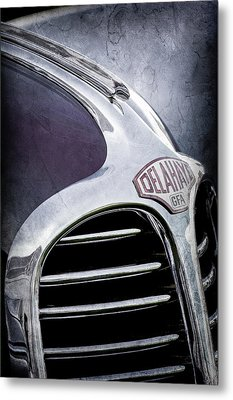 1947 Delahaye Emblem -1477ac Metal Print by Jill Reger