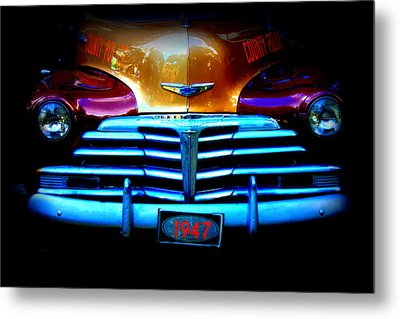 1947 Police Car Metal Print by Dana  Oliver