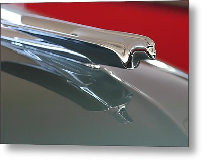 1948 Cadillac Series 62 Hood Ornament Metal Print by Jill Reger