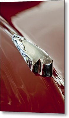1948 Crosley Convertible Hood Ornament Metal Print by Jill Reger