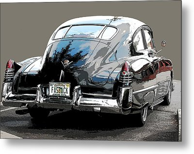 1948 Fastback Cadillac Metal Print by Robert Meanor