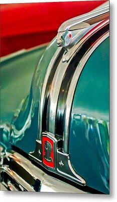 1948 Pontiac Streamliner Woody Wagon Hood Ornament Metal Print by Jill Reger