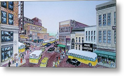 1948 Rush Hour Portsmouth Ohio Metal Print