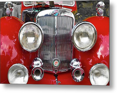 1948 Triumph 1800 Roadster Metal Print by Jack R Perry