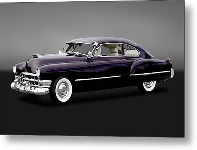 Metal Print featuring the photograph 1949 Cadillac Two Door Sedan  -  1949caddy2drsedangry172173 by Frank J Benz