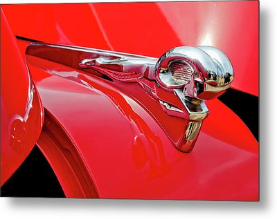 1949 Dodge Truck Hood Ornament Metal Print by Jill Reger
