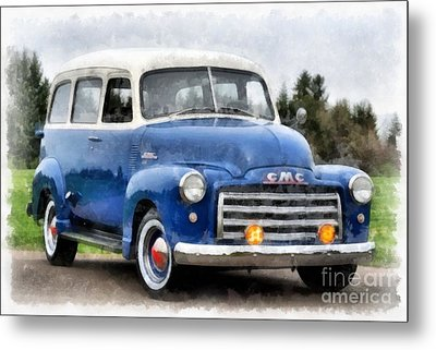 1950 Gmc Carryall Suburban 100 Metal Print by Edward Fielding