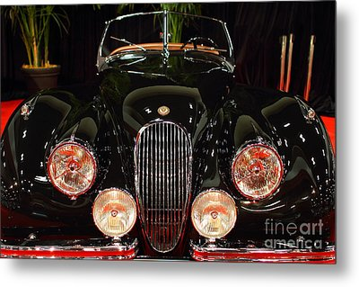 1950 Jaguar Xk120 Alloy Roadster . 7d9179 Metal Print by Wingsdomain Art and Photography