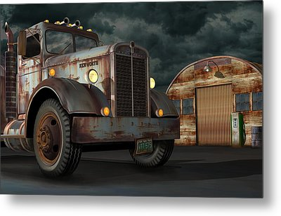1950 Kenworth Metal Print by Stuart Swartz