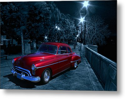 Metal Print featuring the photograph 1950 Olds Ninety-eight by Michael Cleere