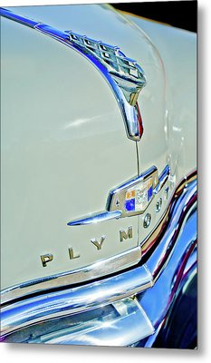 1950 Plymouth Coupe Hood Ornament Metal Print by Jill Reger
