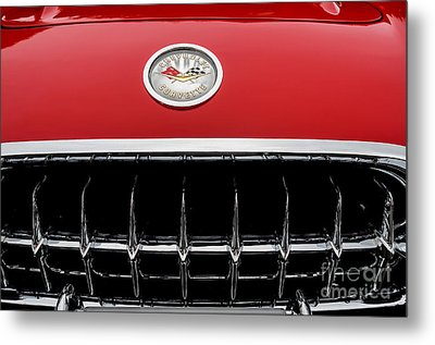 Metal Print featuring the photograph 1959 Corvette by M G Whittingham