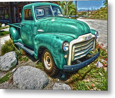 1950s Gmc Truck Metal Print by Gregory Dyer