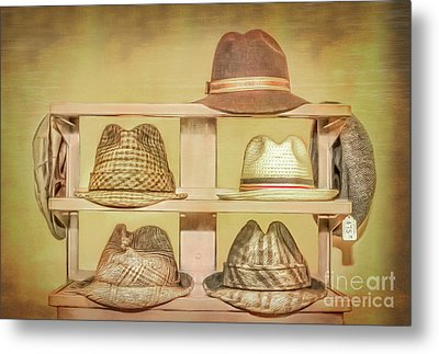 1950s Hats Metal Print by Marion Johnson
