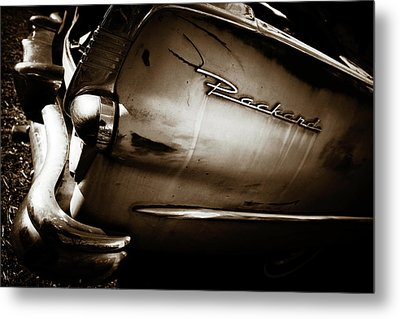 Metal Print featuring the photograph 1950s Packard Tail by Marilyn Hunt