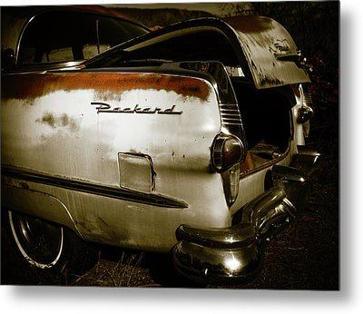 Metal Print featuring the photograph 1950s Packard Trunk by Marilyn Hunt