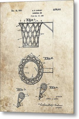 1951 Basketball Net Patent Metal Print by Dan Sproul