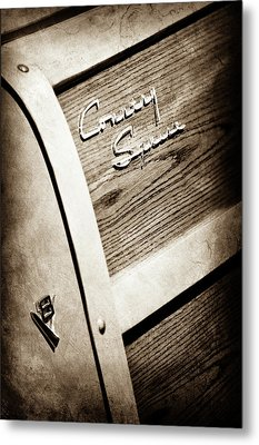 1951 Ford Country Squire Woody Wagon Side Emblem -3369s Metal Print