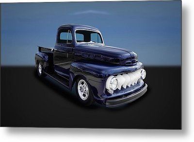 1951 Ford Truck  -  Fd11 Metal Print by Frank J Benz