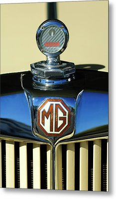 1951 Mg Td Messko Thermometer Hood Ornament Metal Print by Jill Reger