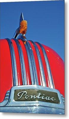 1951 Pontiac Chief Hood Ornament 2 Metal Print by Jill Reger