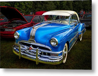 1952 Blue Pontiac Catalina Chiefton Classic Car Metal Print by Betty Denise