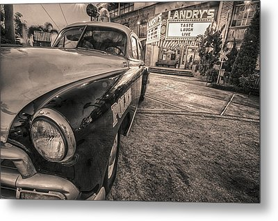Metal Print featuring the tapestry - textile 1952 Chevy Black And White by Kathy Adams Clark