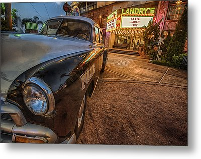 Metal Print featuring the tapestry - textile 1952 Chevy  by Kathy Adams Clark
