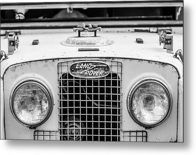 1952 Land Rover 80 Grille -0988bw Metal Print by Jill Reger