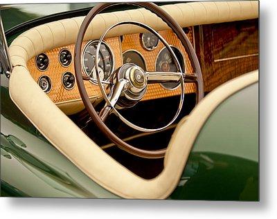1952 Sterling Gladwin Maverick Sportster Steering Wheel Metal Print by Jill Reger