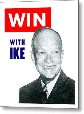 1952 Win With Ike Metal Print