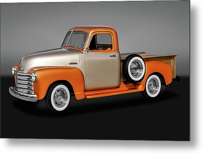 Metal Print featuring the photograph 1953 Chevrolet 3100 Series Pickup Truck   -   19533100chevytrkgry170680 by Frank J Benz