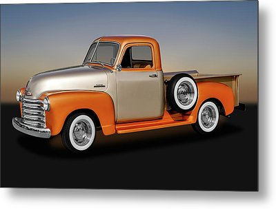 Metal Print featuring the photograph 1953 Chevrolet 3100 Series Pickup Truck   -   1953chevy3100trk170680 by Frank J Benz