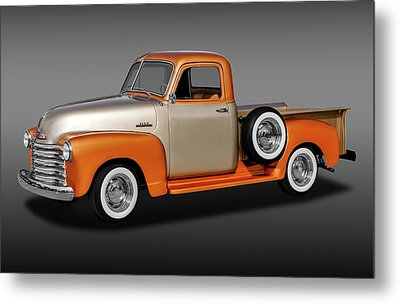 Metal Print featuring the photograph 1953 Chevrolet 3100 Series Pickup Truck   -   1953chevy3100trkfa170680 by Frank J Benz