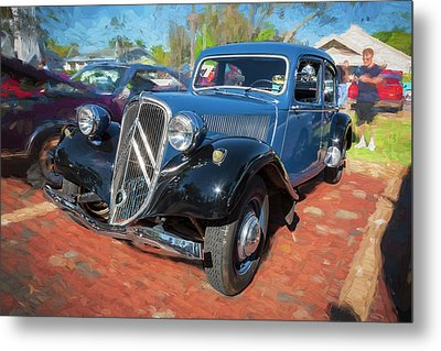 Metal Print featuring the photograph 1953 Citroen Traction Avant by Rich Franco