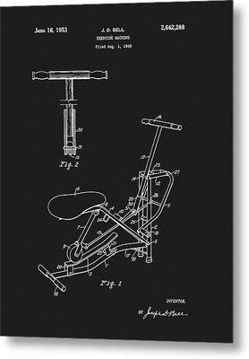 1953 Exercise Apparatus Patent Metal Print by Dan Sproul