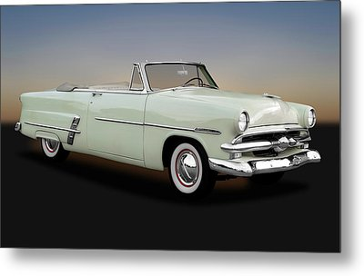 Metal Print featuring the photograph 1953 Ford Customline Sunliner 2 Door Convertible   -   1953fordcustomlinecv170651 by Frank J Benz