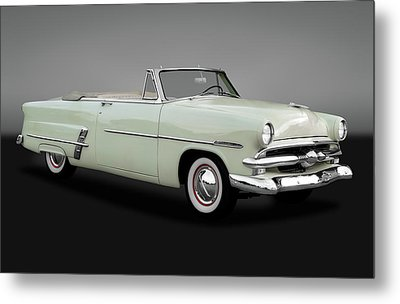Metal Print featuring the photograph 1953 Ford Customline Sunliner 2 Door Convertible  -   1953fordcustomsunlinergry170651 by Frank J Benz