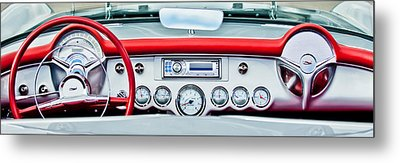1954 Chevrolet Corvette Dashboard Metal Print by Jill Reger