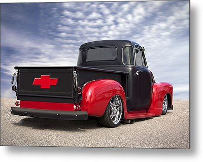 1954 Chevy Truck Lowrider Metal Print by Mike McGlothlen