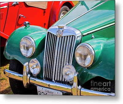 Metal Print featuring the photograph 1954 Mg Tf Sports Car by Chris Dutton