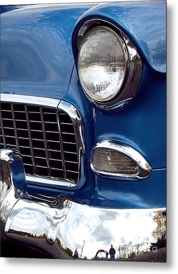 1955 Chevy Front End Metal Print by Anna Lisa Yoder