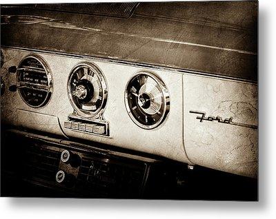 1955 Ford Fairlane Dashboard Emblem -0444s Metal Print by Jill Reger