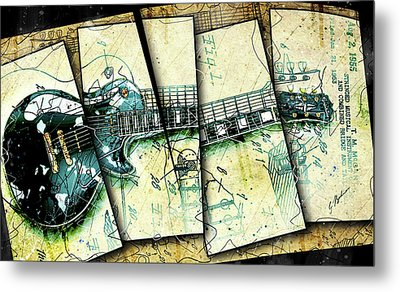 1955 Les Paul Custom Black Beauty V2 Metal Print by Gary Bodnar